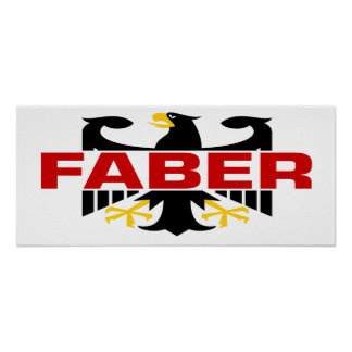 Faber Surname Posters