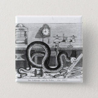 Fable of the Snake and the Files 15 Cm Square Badge