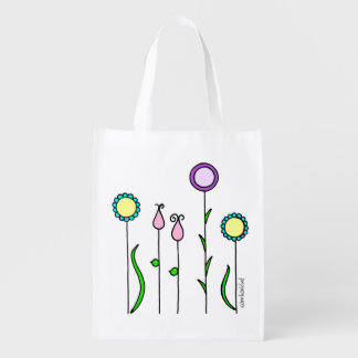 Fabric bag flower discount/Flowerbed Tote bag