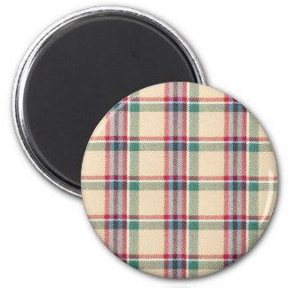 Fabric Checks modern design trend latest style fas 6 Cm Round Magnet