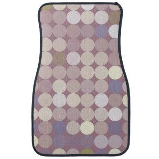 Fabric circles abstract pattern car mat
