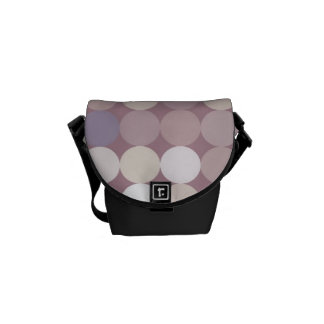 Fabric circles abstract pattern courier bag
