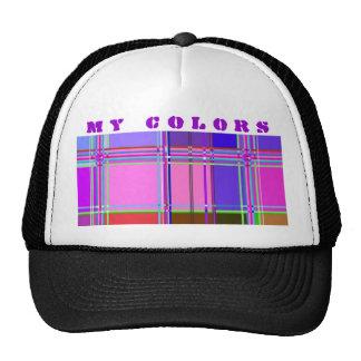 Fabric Cloth Colors Squares Cap