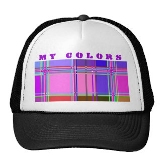 Fabric Cloth Colors Squares Trucker Hat
