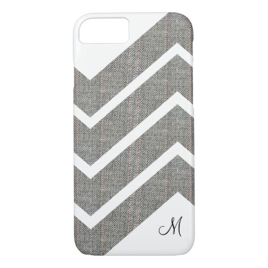 Fabric Denim Chevron Monogram iPhone 7/8 Cases
