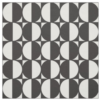 Fabric Formas Geometric Black and white Pattern