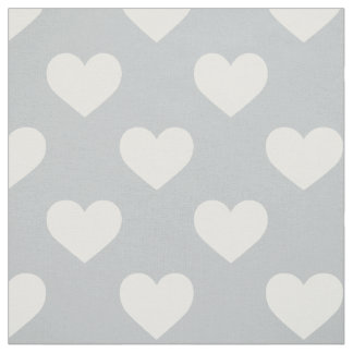 Fabric: Grey hearts Fabric