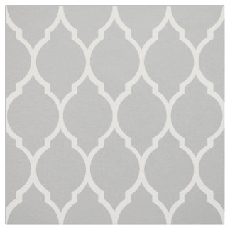 Fabric: Grey morrocan pattern Fabric
