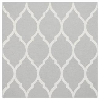 Fabric: Grey morrocan pattern Fabric
