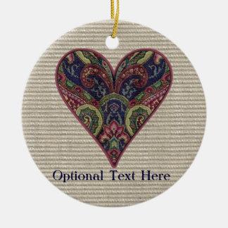 Fabric Heart Collage Ornament