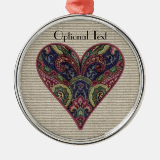 Fabric Heart Collage Christmas Tree Ornaments