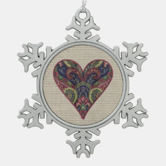 Fabric Heart Collage Ornaments