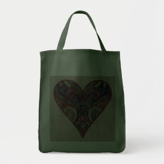 Fabric Heart Tapestry Collage Tote Bag