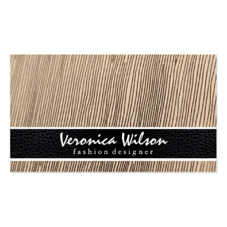 Fabric Line Threading & Leather print Pack Of Standard Business Cards