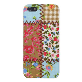 Fabric Patchwork iPhone 4 Speckcase iPhone 5 Cover