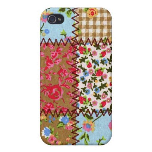 Fabric Patchwork iPhone 4 Speckcase iPhone 4/4S Case