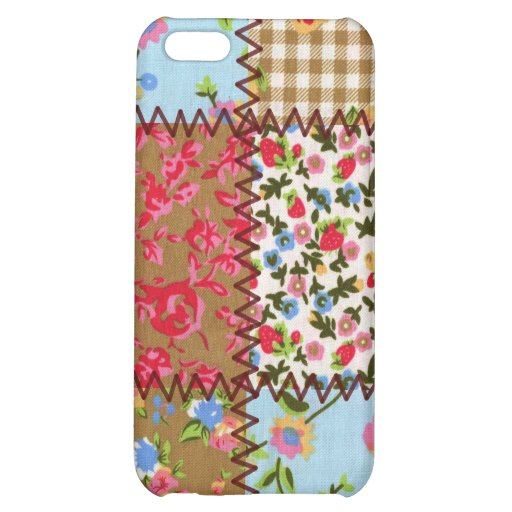 Fabric Patchwork iPhone 4 Speckcase iPhone 5C Covers