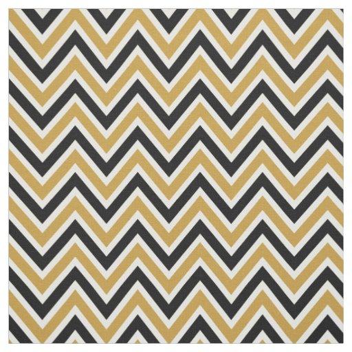 Fabric Pattern Chevron Black & Gold