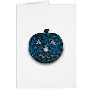 Fabric pumpkin greeting card