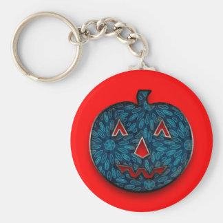 Fabric pumpkin key ring