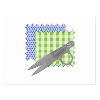 Fabric & Scissors Postcards