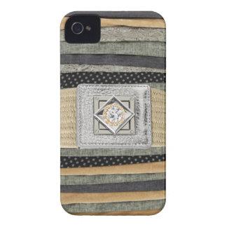 Fabric Scraps Metallic & Rhinestones IPhone4 Case Case-Mate iPhone 4 Cases