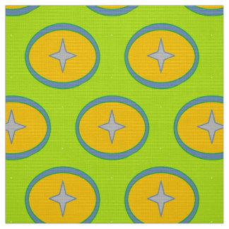 Fabric, star circle pattern fabric
