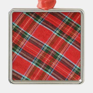 Fabric texture christmas ornament