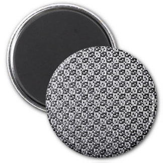 Fabric Texture, Luxury, Style, Fashion Checkers 6 Cm Round Magnet