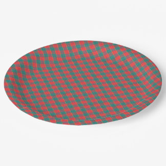 Fabric texture paper plate