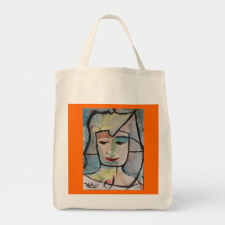 Fabric Tote with Art by ValAries Grocery Tote Bag