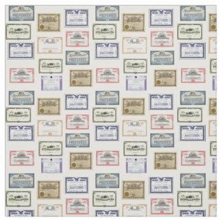Fabric - Wall Street Market Certificates