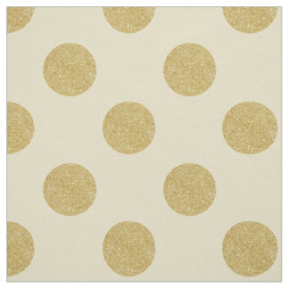 Fabric: White & faux gold polka dots Fabric