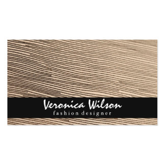 Fabric with Line Threading 2 Pack Of Standard Business Cards