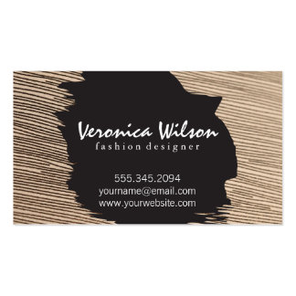 Fabric with Line Threading Pack Of Standard Business Cards