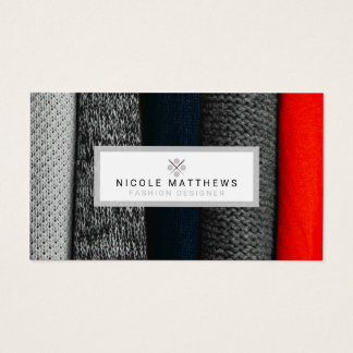 Fabrics Fashion Designer Business Card