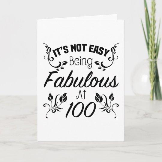 Fabulous 100th Birthday Card