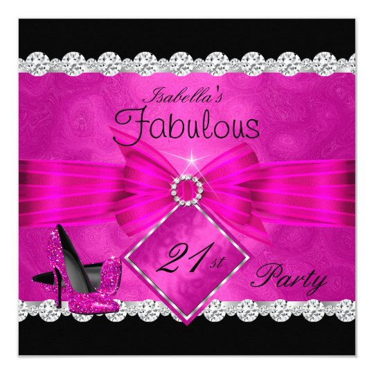 Fabulous 21 Hot Pink Black Silver Birthday Party