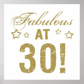 Fabulous 30th Birthday Poster