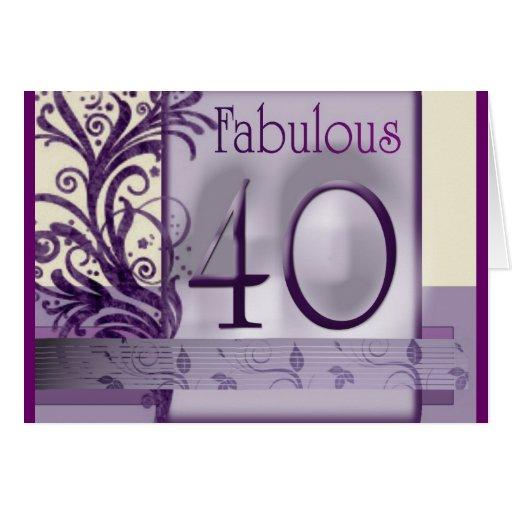Fabulous 40 birthday card