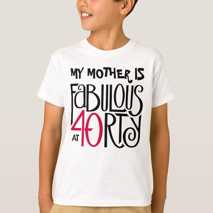 Fabulous 40 black red Kids T-shirt