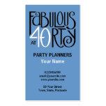 Fabulous 40 black white blue Business Card