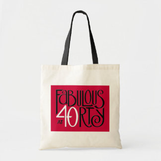 Fabulous 40 black white red Bag