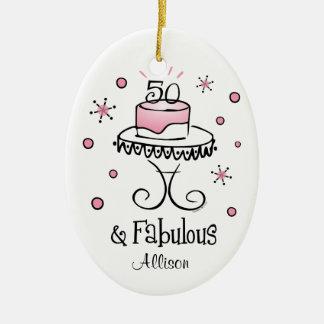 Fabulous 50 Personalized Ornament