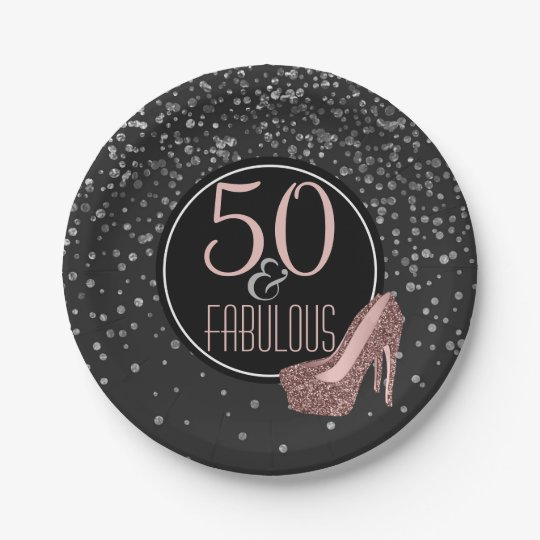 Fabulous 50th Birthday Party   Black Silver Pink