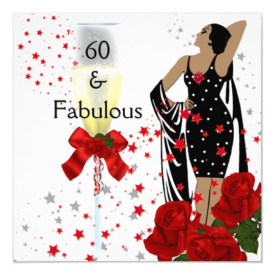 Fabulous 60 60th Birthday Party Red Roses White