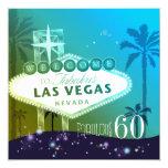 FABULOUS 60 Las Vegas Birthday Party Invitations