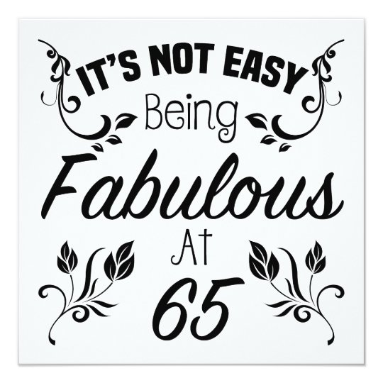 Fabulous 65th Birthday Card