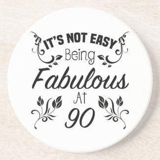 Fabulous 90th Birthday Coaster