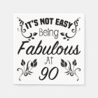 Fabulous 90th Birthday Disposable Serviette